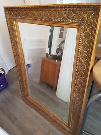 Vintage mirror, bar stools, telephone. Clearance