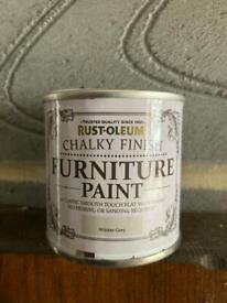Rust-Oleum Chalky finish furniture paint tester in winter grey