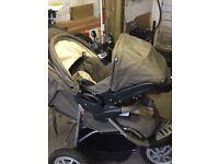 Mothercare 3 wheeler with car seat