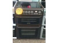 CANNON 60CM CEROMIC TOP ELECTRIC COOKER IN BROWN