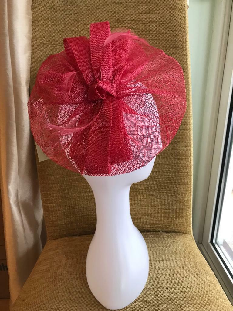 Fascinator by Monsoon cerise red