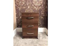 3 Drawer Bedside Chest H26xW16xD16cm