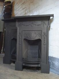 Cast Iron Fireplace matching pair