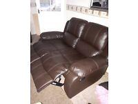 leather manual recliner sofa
