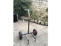 Used fishing trolley