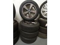 "16"" TRANSIT CONNECT ALLYS JUST BN REFURBD ANTHRICITE GREY BRAND NEW WINTER TYRES NEVER TOUCHD ROAD"