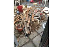 Fire wood from building extension need collecting adap