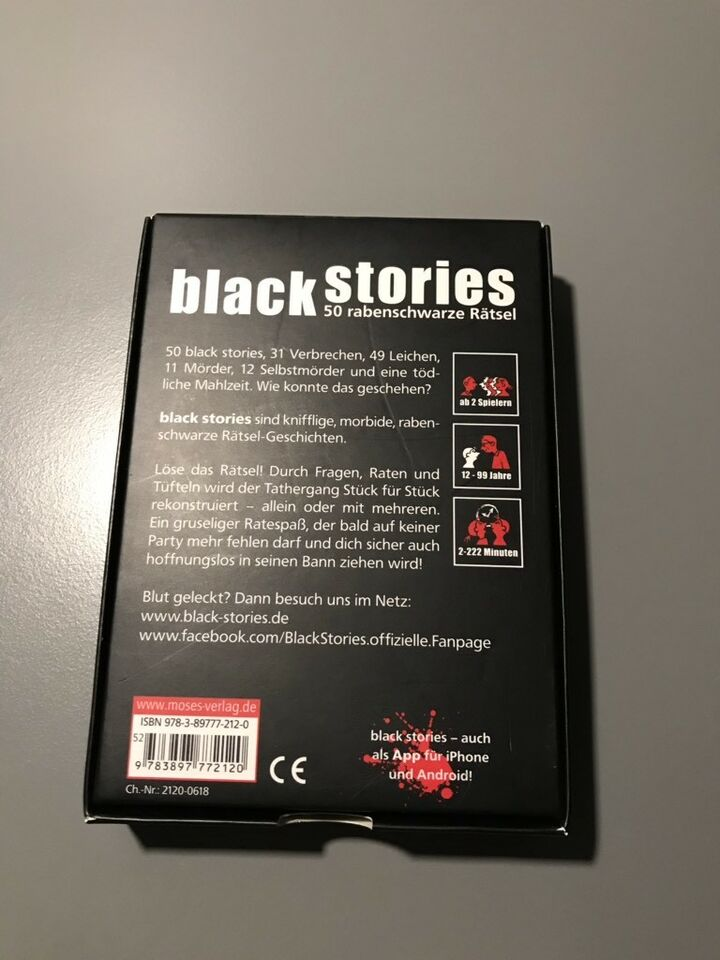 Black Stories 7 Neu /& OVP