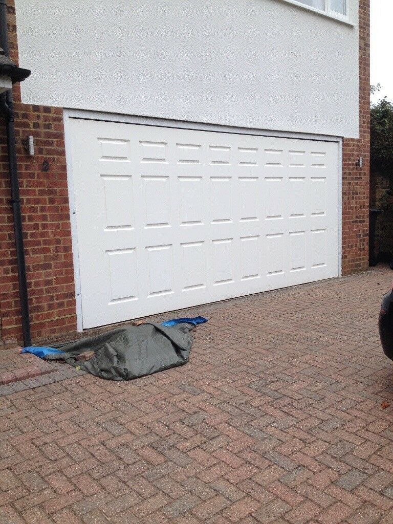Electric double garage door white cardale dc650n up and over electric double garage door white cardale dc650n up and over rubansaba