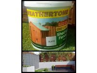 Brand New! Bargain Price 10 Litre GREY fence paint!!