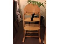 Baby Dany wooden high chair