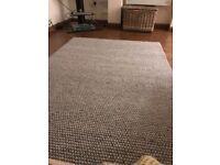 "Dunelm Pebble Grey 100% Wool Rug 160cm x 230cm (63"" x 91"")"