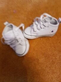 Leather converse pram shoes size 1