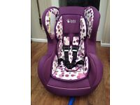 Baby Weavers retro pattern car seat Group 0 -1 for children 0 to 18kg