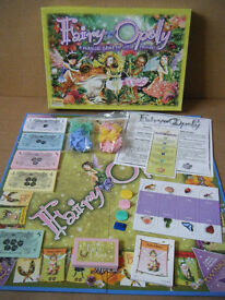 """""""FAIRY OPOLY"""" Monopoly type children's game. By Late for the sky games USA."""