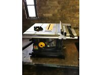 Performance portable table saw