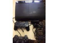 SONY PS-3 SLIM excellent condition with two controllers £50