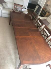 Dining Room Table (Wooden Mahogany Table)