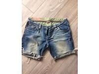 River island /gstar summer shorts size 12
