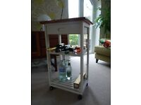Shabby Chic Wooden Wine Rack on Casters