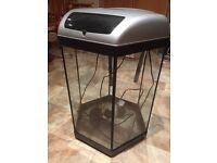 Fish Tank Aquarium - Aquael 60 litres hexagonal fish tank with filter, light and heater