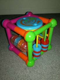 Small Plastic Activity Cube