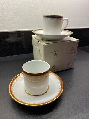 VISTA ALEGRE Portugal Porcelian 2 X Coffee & Saucer Set New !!!