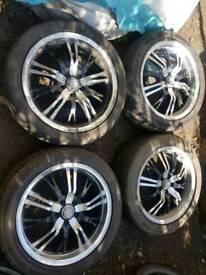 Aftermarket alloy wheels 5x100