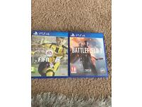 FIFA 17 and battlefield 1