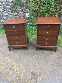 Stag bedside chests / cabinets