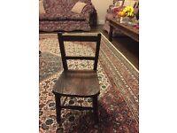 wooden antique child chair