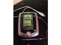 LeapPad 2 gaming pad with two games (purple colour)