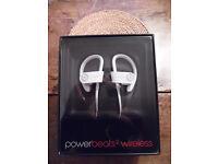 Powerbeats2 Wireless In Ear Headphones by Dr.Dre. White. Packaging unopened.