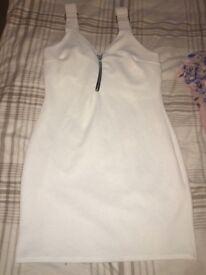 White boohoo dress