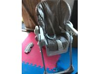 High chair and travel cot