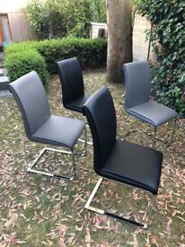 Leather John Lewis dining chairs