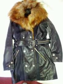 RI Ladies leather and suede coat