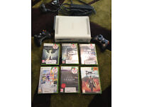 Fully working xbox360 with 2 controllers + 6 games + all wires and leads