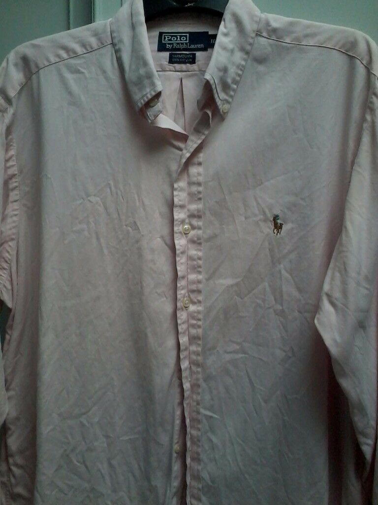 £650.00 WORTH OF RALPH LAUREN POLO MENS DESIGNER SHIRTS / ALL 100% GENUINE / ALL IN VGC / ALL XL/L