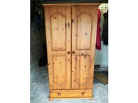 Cottage style Pine wardrobe with drawer