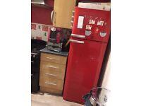 Next red fridge freezer