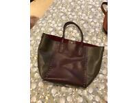 Leather studded shopper, velvet inside with a zipped pocket. From Clark's
