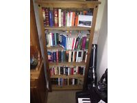 Bookshelves, Solid Wood: Sold Individually or as a Pair. 7ft tall x 3ft wide x 2ft deep.