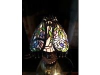 Lamp Tiffany Multi Coloured Lamp Tassels
