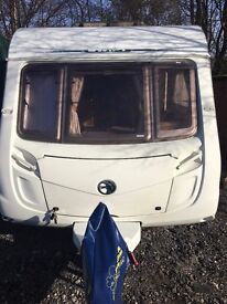 Swift Challenger caravan fixed bed, n new top of the range Bradcott awning & 12 month old hitchlock