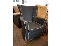 Grey fabric fireside Chair