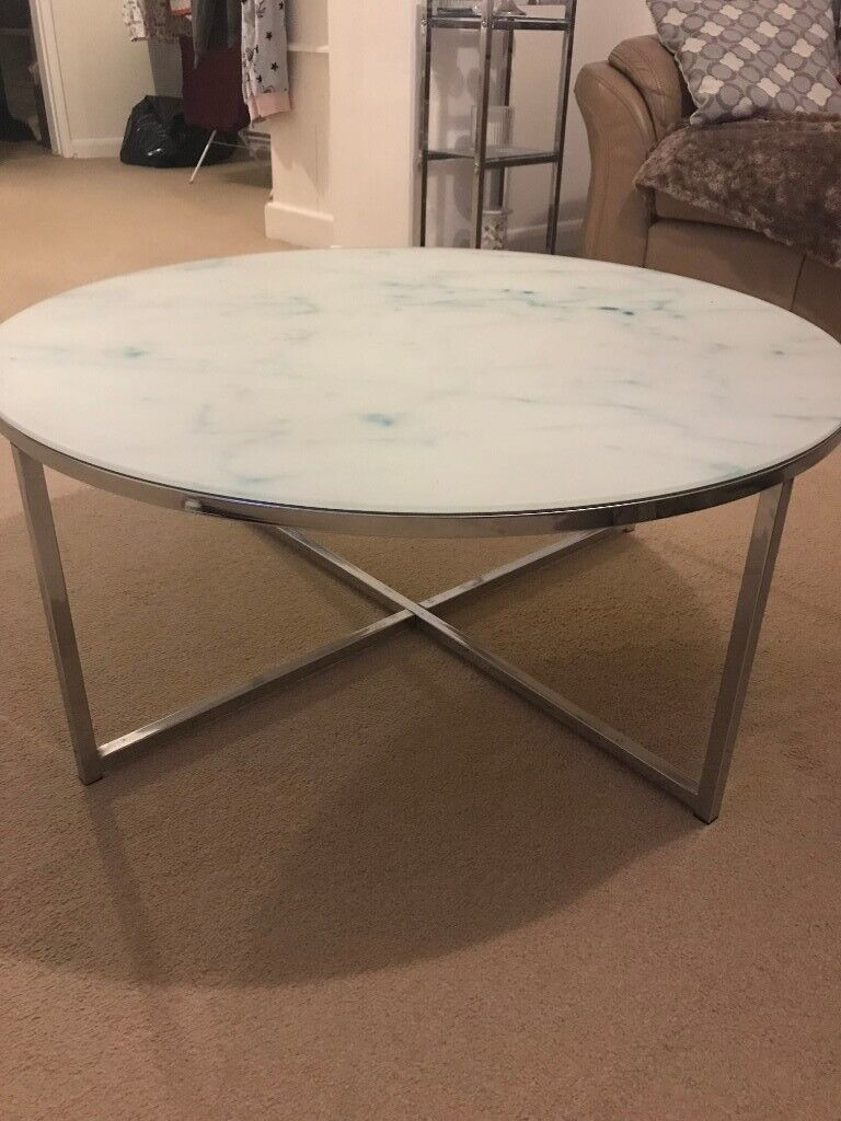 Round Glass Next Coffee Table In Stamford Lincolnshire Gumtree