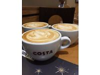 Costa Coffee Christchurch are recruiting for a new full time team member!