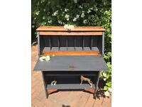 Oak bureau shelf unit desk cupboard
