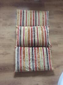 Gorgeous Next orange striped cushions very good condition